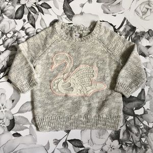 Other - Pink Swan Baby Sweater